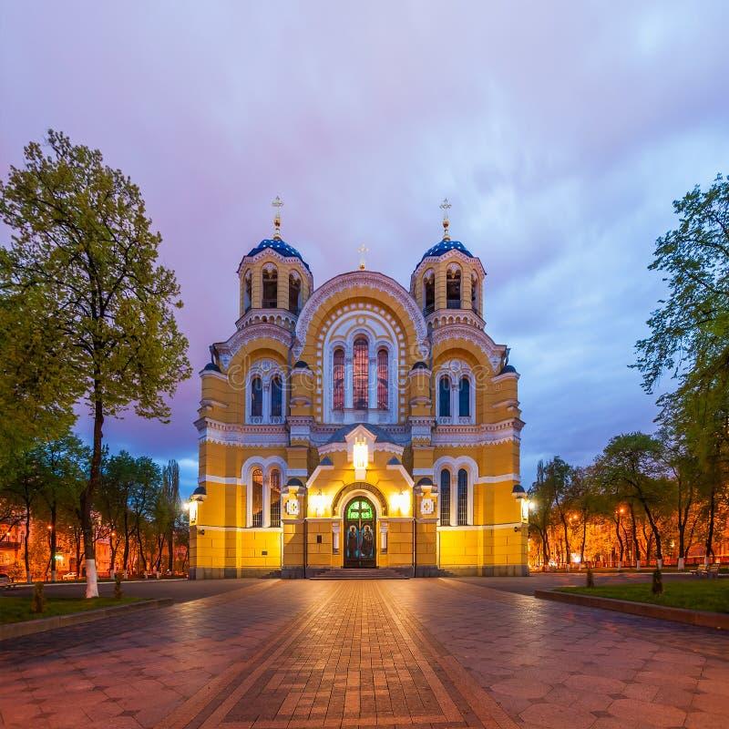 Καθεδρικός ναός του ST Βλαντιμίρ στο Κίεβο, Ουκρανία στοκ εικόνα