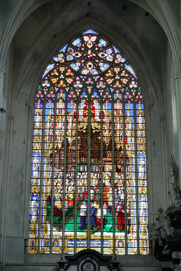 Καθεδρικός ναός του ST Rumbold σε Mechelen στοκ φωτογραφίες