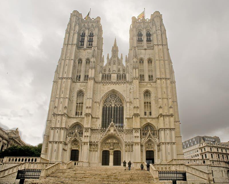 Καθεδρικός ναός των Βρυξελλών του ST Michael και του ST Gudula στοκ εικόνα