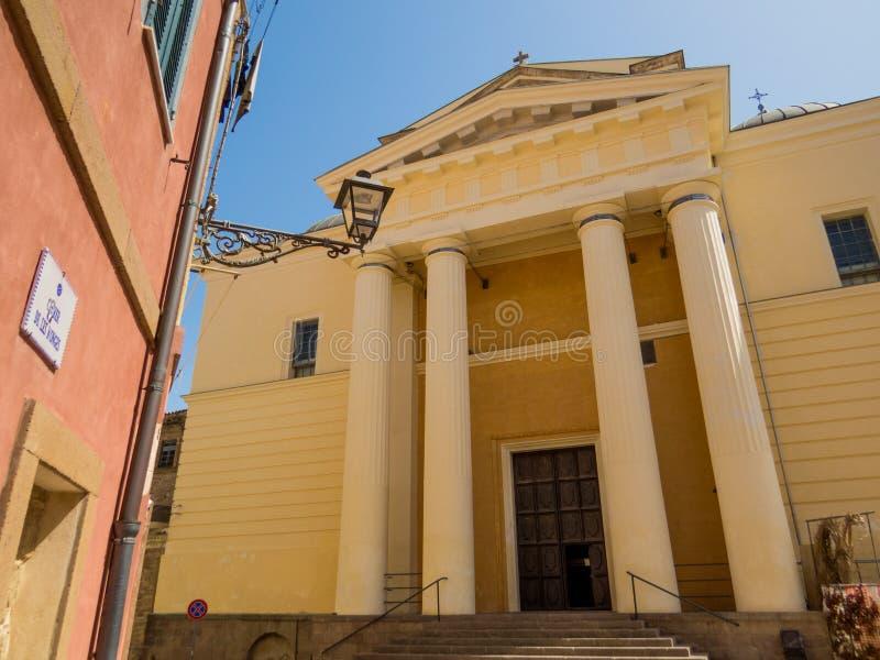 Καθεδρικός ναός Alghero, νεοκλασσική προσθήκη στοκ εικόνα με δικαίωμα ελεύθερης χρήσης