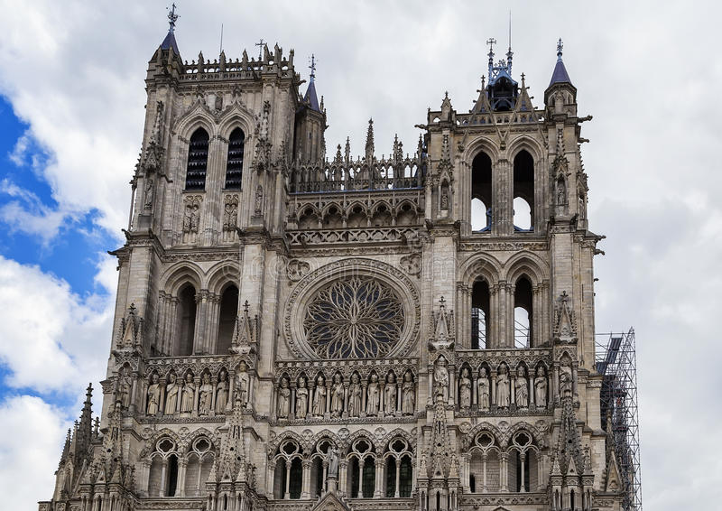 Καθεδρικός ναός Amiens, Γαλλία στοκ εικόνα