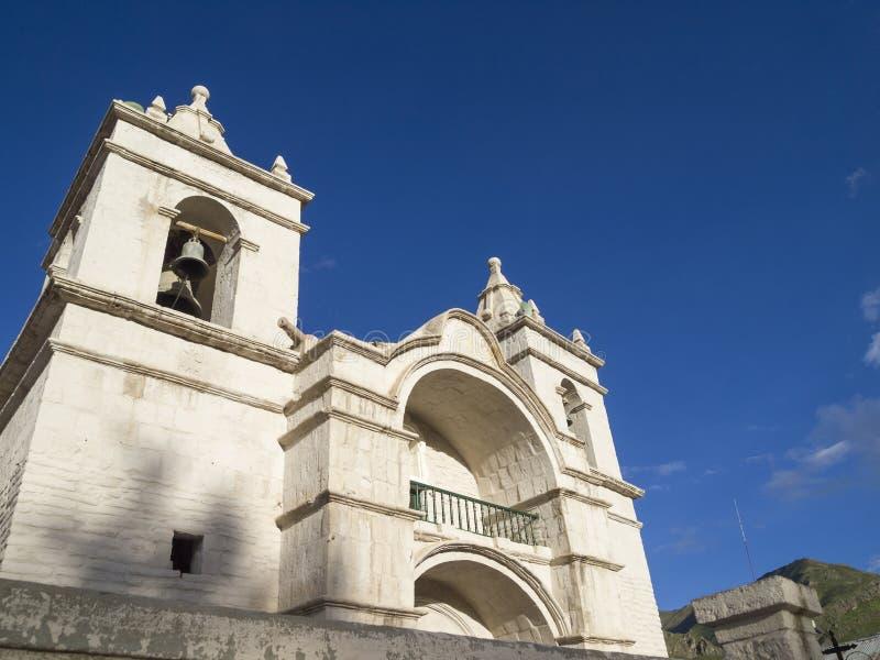 Καθεδρικός ναός Chivay, Περού στοκ φωτογραφία με δικαίωμα ελεύθερης χρήσης