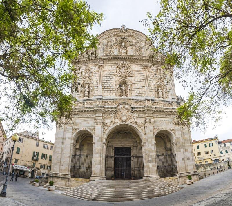 Καθεδρικός ναός Duomo SAN Nicola σε Sassari, Ιταλία στοκ φωτογραφία με δικαίωμα ελεύθερης χρήσης