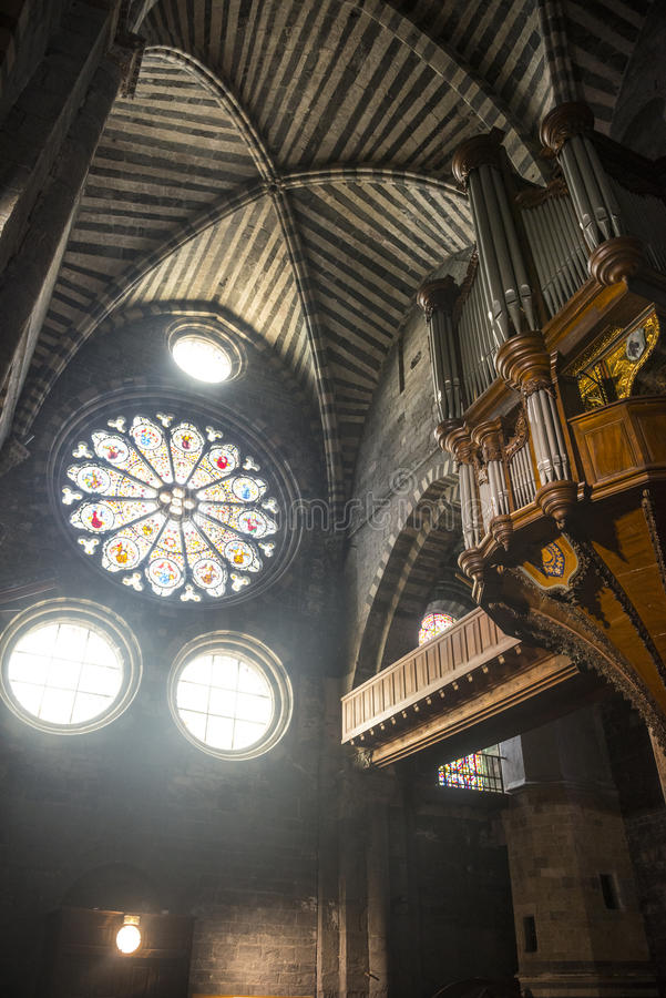 Καθεδρικός ναός Embrun, εσωτερικός στοκ φωτογραφία με δικαίωμα ελεύθερης χρήσης
