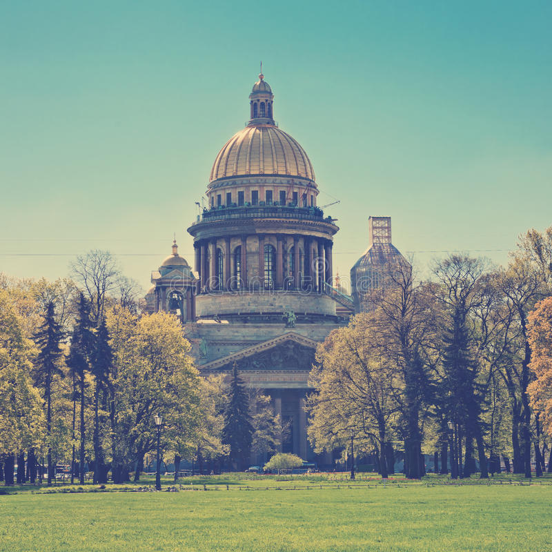 καθεδρικός ναός Isaac Πετρούπ& Ρωσία στοκ εικόνα