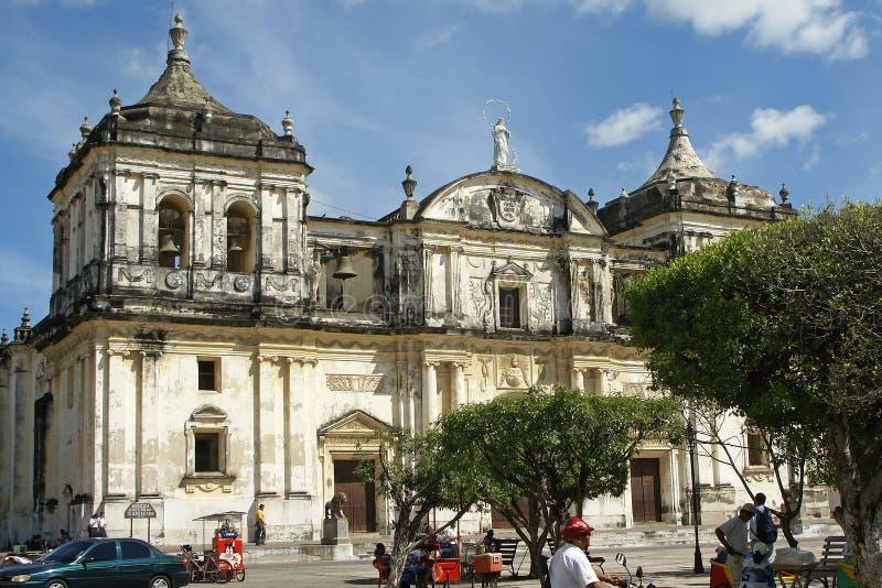 Καθεδρικός ναός, Leon, Νικαράγουα στοκ εικόνες