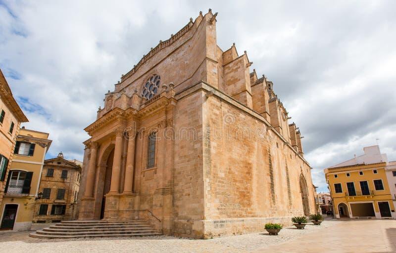 Καθεδρικός ναός Menorca Ciutadella σε Ciudadela Βαλεαρίδες Νήσοι στοκ φωτογραφίες