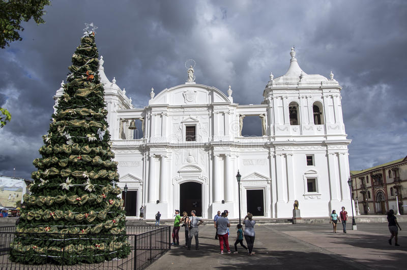 Καθεδρικός ναός SAN Pedro, Leon, Νικαράγουα στοκ εικόνες