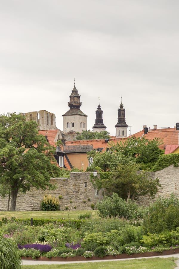 Καθεδρικός ναός Visby στη Gotland, Σουηδία στοκ εικόνα με δικαίωμα ελεύθερης χρήσης