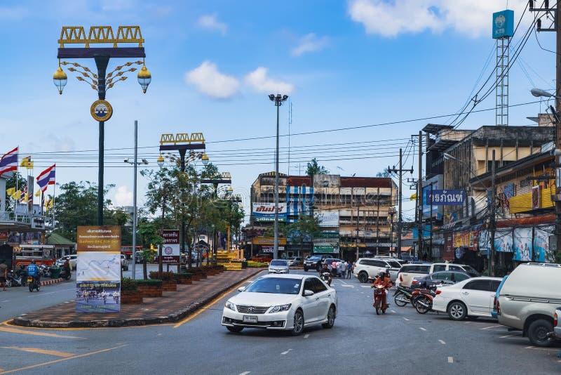 Καθημερινή ζωή στους δρόμους στις επαρχίες της Ταϊλάνδης στοκ φωτογραφία με δικαίωμα ελεύθερης χρήσης