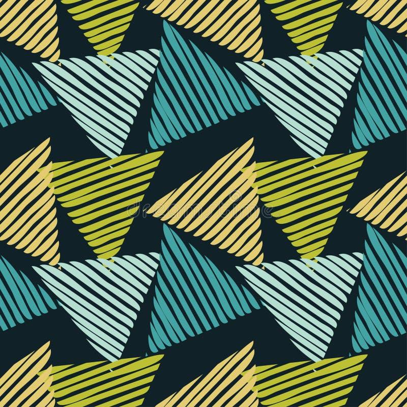 Καθιερώνοντα τη μόδα άνευ ραφής σχέδια σχεδίων Αριθμοί από τα ριγωτά τρίγωνα Διανυσματικό γεωμετρικό υπόβαθρο η ανασκόπηση είναι  απεικόνιση αποθεμάτων