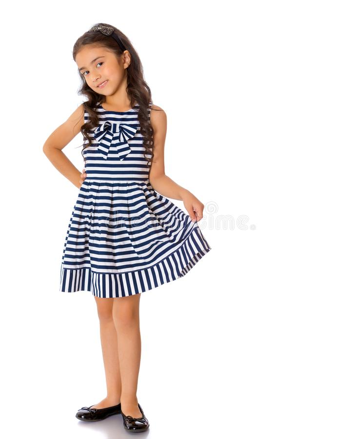 Καθιερώνον τη μόδα ασιατικό μικρό κορίτσι στην πλήρη αύξηση στοκ φωτογραφία με δικαίωμα ελεύθερης χρήσης