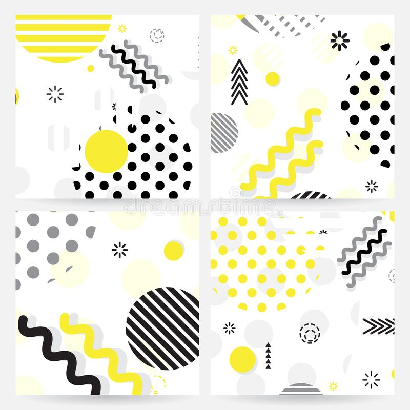 Καθιερώνον τη μόδα γεωμετρικό σχέδιο ύφους της Μέμφιδας διανυσματική απεικόνιση
