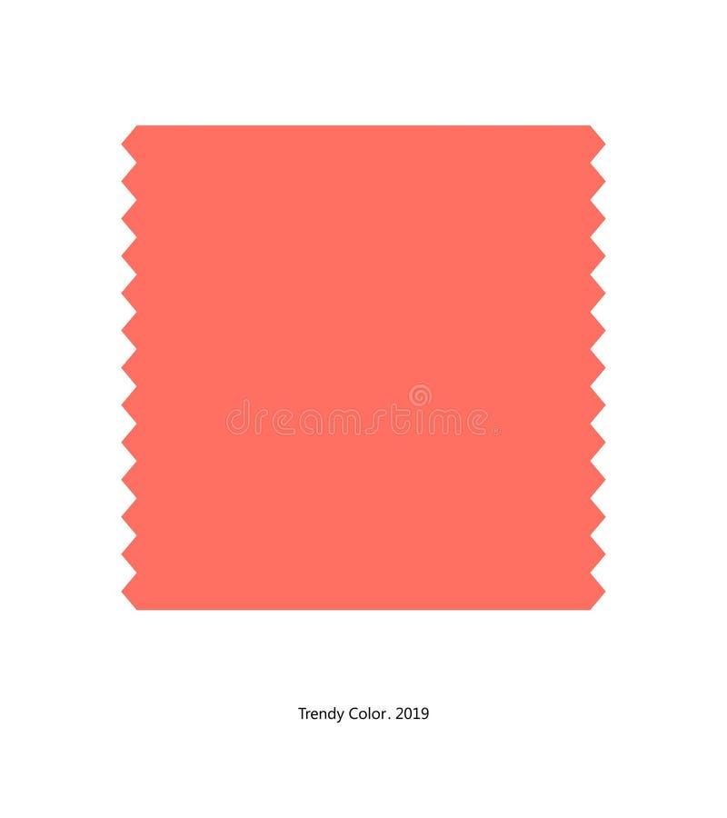 Καθιερώνον τη μόδα χρώμα 2019 από το σαφές μπάλωμα χρώματος διανυσματική απεικόνιση