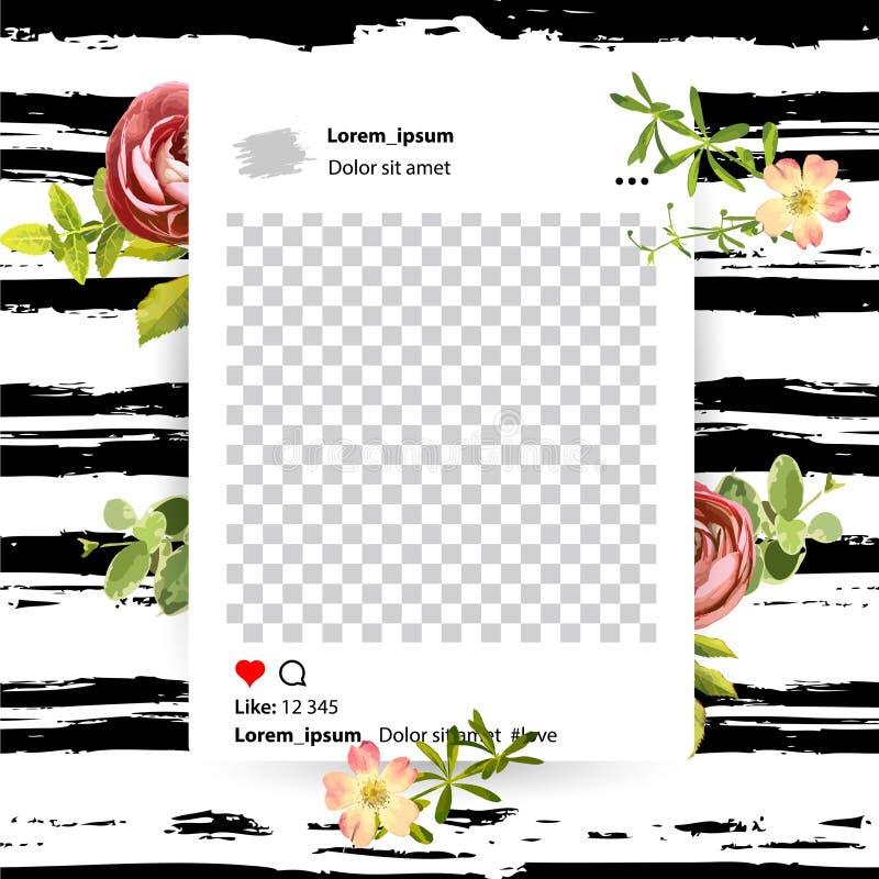 Καθιερώνον τη μόδα editable πρότυπο για τις κοινωνικές ιστορίες δικτύων απεικόνιση αποθεμάτων