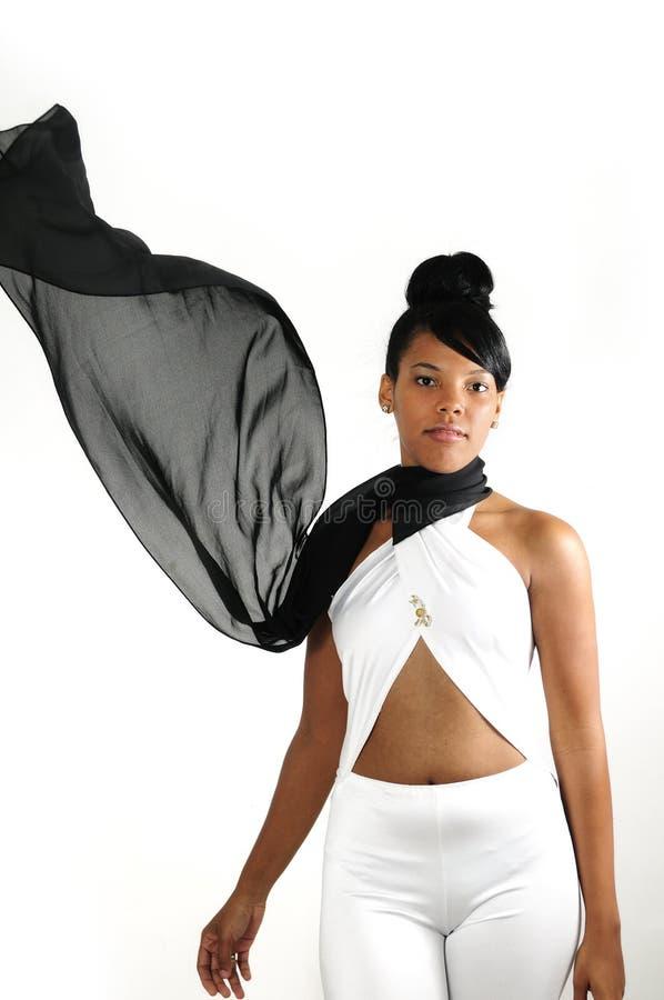 Καθιερώνουσα τη μόδα αφρικανική γυναίκα μόδας στοκ εικόνες