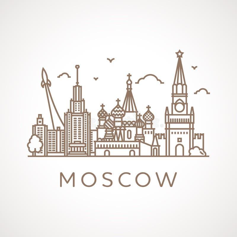 Καθιερώνουσα τη μόδα απεικόνιση γραμμή-τέχνης της Μόσχας ελεύθερη απεικόνιση δικαιώματος