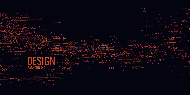 Καθιερώνων τη μόδα αφηρημένος γραφικός Γεωμετρικές μορφές σε ένα σκοτεινό υπόβαθρο διανυσματική απεικόνιση