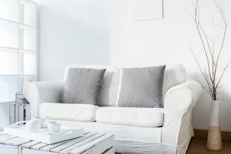 Καθιστικό στο Σκανδιναβικό ύφος στοκ φωτογραφία με δικαίωμα ελεύθερης χρήσης