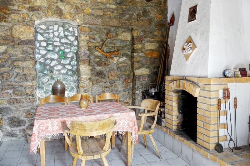 Καθιστικό στο σπίτι διακοπών στοκ φωτογραφίες με δικαίωμα ελεύθερης χρήσης