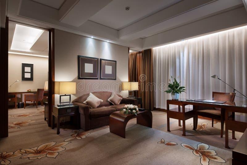 Καθιστικό του ξενοδοχείου στοκ εικόνες
