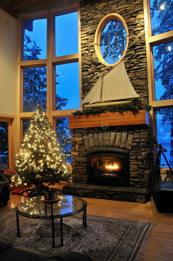 Καθιστικό Χριστουγέννων στοκ φωτογραφία με δικαίωμα ελεύθερης χρήσης