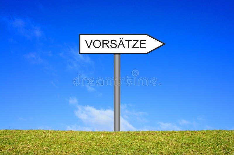 Καθοδηγήστε την παρουσίαση ψηφισμάτων γερμανικά στοκ εικόνες