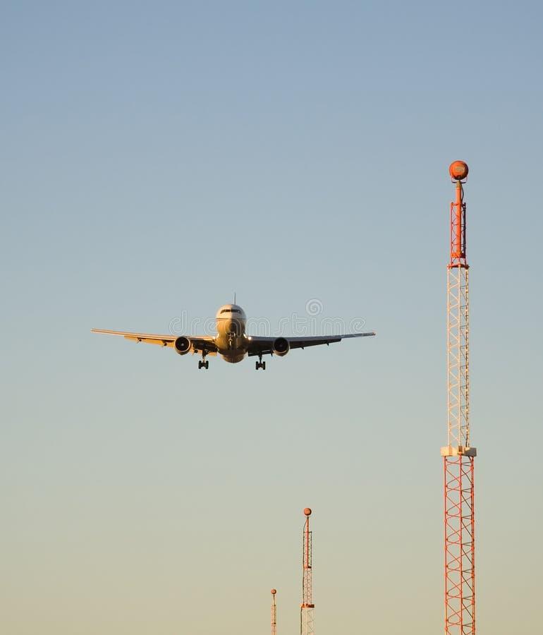 καθοδηγημένη προσγείωση στοκ φωτογραφία με δικαίωμα ελεύθερης χρήσης