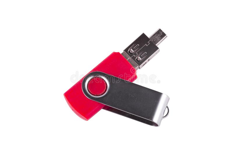 Καθολική τμηματική κίνηση λεωφορείων USB που συνδέεται με τον προσαρμοστή που απομονώνεται στοκ εικόνες με δικαίωμα ελεύθερης χρήσης