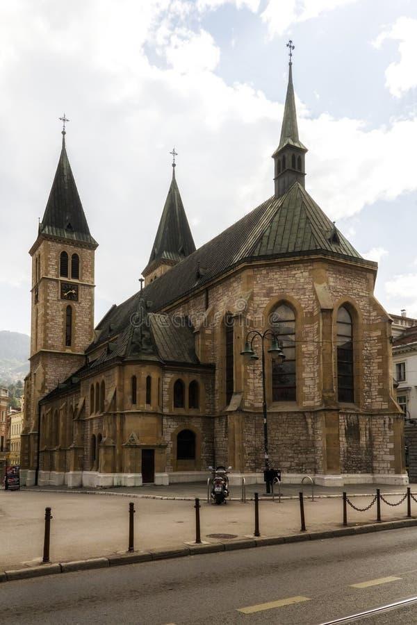 Καθολικός καθεδρικός ναός γνωστός επίσης ως ιερός καθεδρικός ναός καρδιών, στη Sara στοκ φωτογραφίες