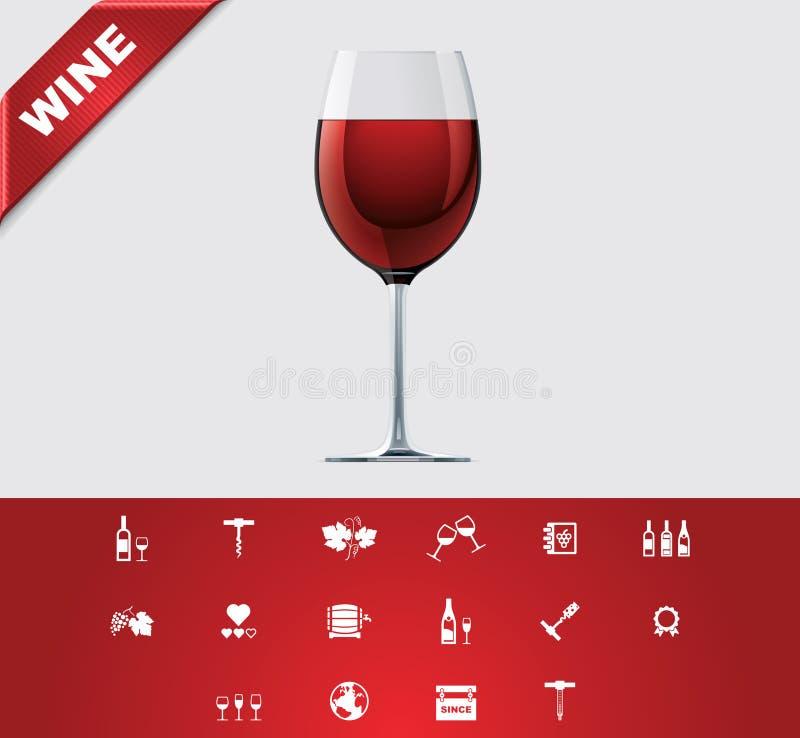 καθολικό κρασί 24 glyphs ελεύθερη απεικόνιση δικαιώματος