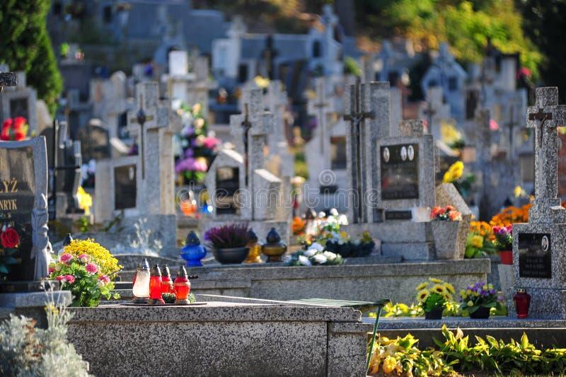 Καθολικό νεκροταφείο Bialystok Πολωνία νεκροταφείων νεκροταφείων τον Οκτώβριο του 2014 της Πολωνίας Bialystok στοκ εικόνα