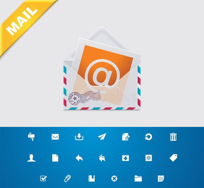 καθολικό ταχυδρομείου 11 ε glyphs απεικόνιση αποθεμάτων