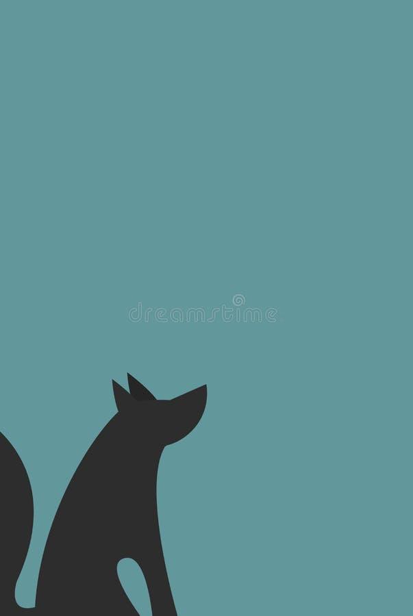 Καθολικό υπόβαθρο λύκων καρτών απεικόνιση αποθεμάτων