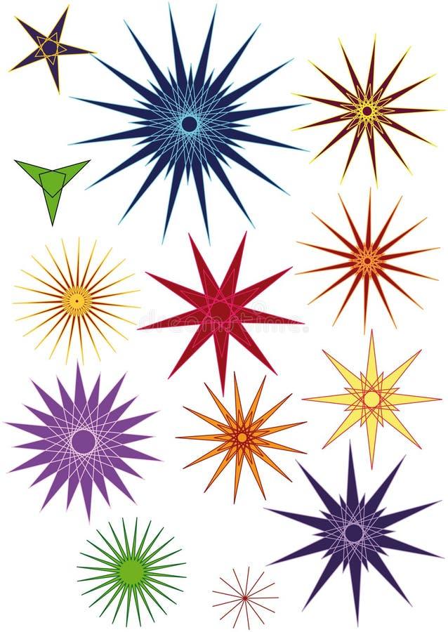 καθορισμένα αστέρια διανυσματική απεικόνιση
