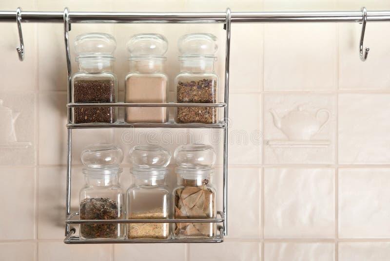 καθορισμένα καρυκεύματα κουζινών στοκ εικόνα με δικαίωμα ελεύθερης χρήσης