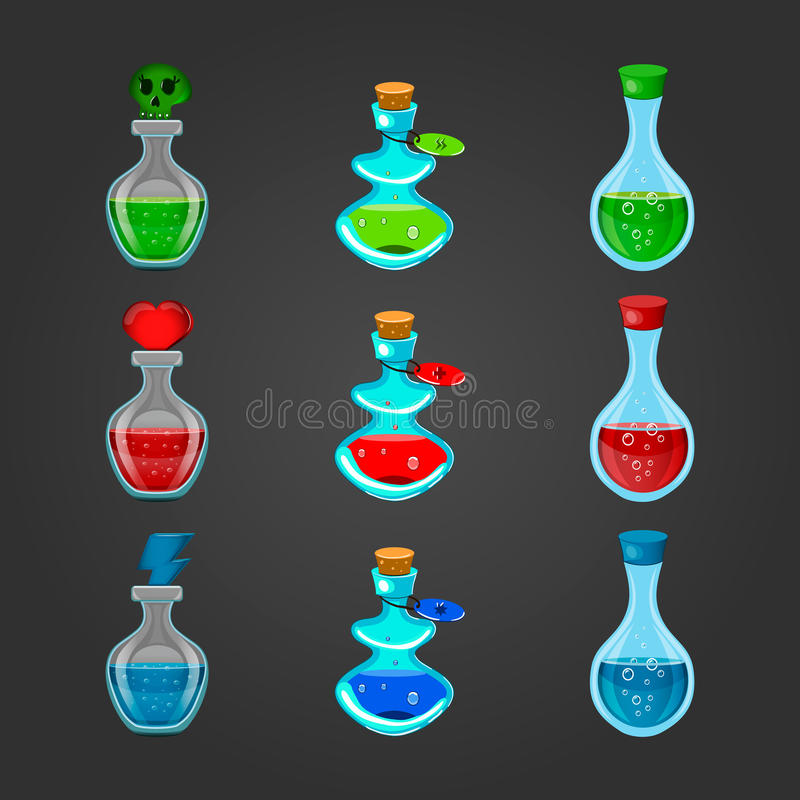 Καθορισμένα μπουκάλια με διαφορετικά φίλτρο-2 απεικόνιση αποθεμάτων