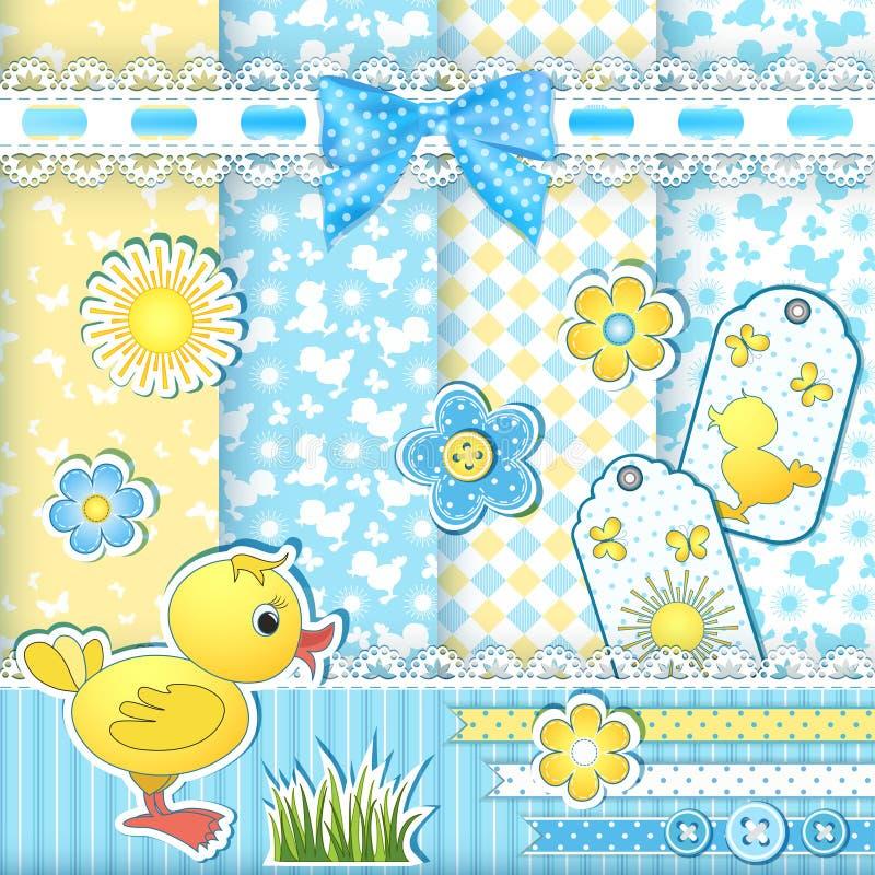 Καθορισμένα πρότυπα μωρών. διανυσματική απεικόνιση