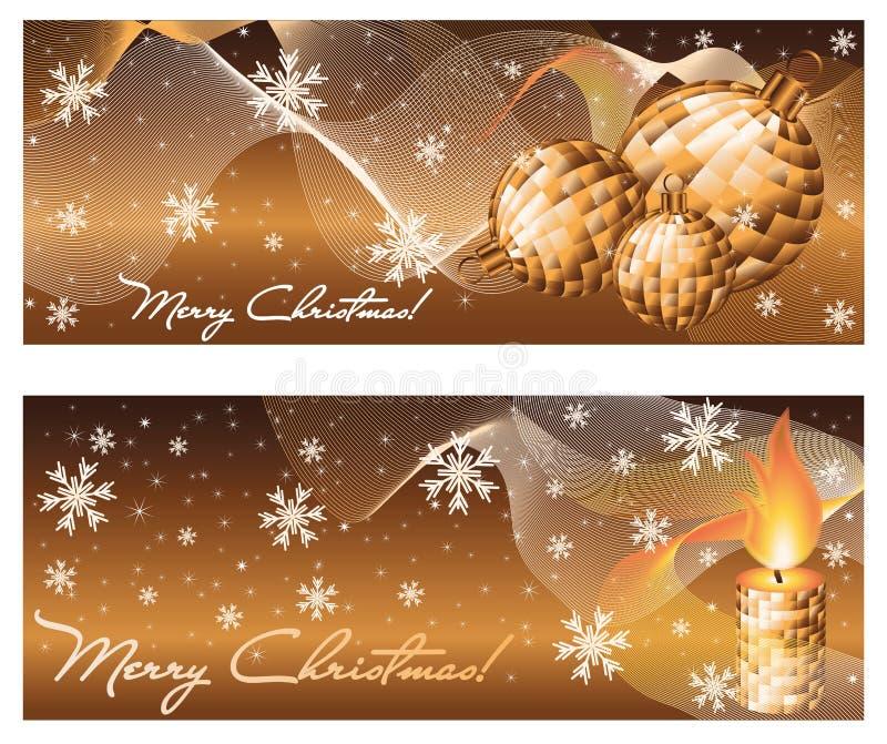 Καθορισμένα χειμερινά εμβλήματα Χριστουγέννων απεικόνιση αποθεμάτων