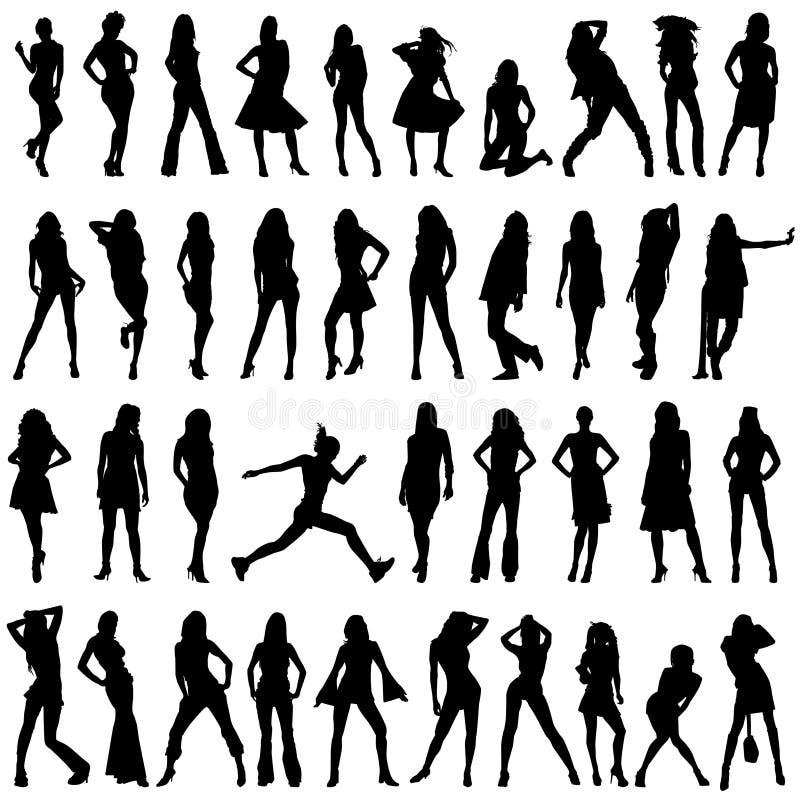 καθορισμένες γυναίκες &m διανυσματική απεικόνιση