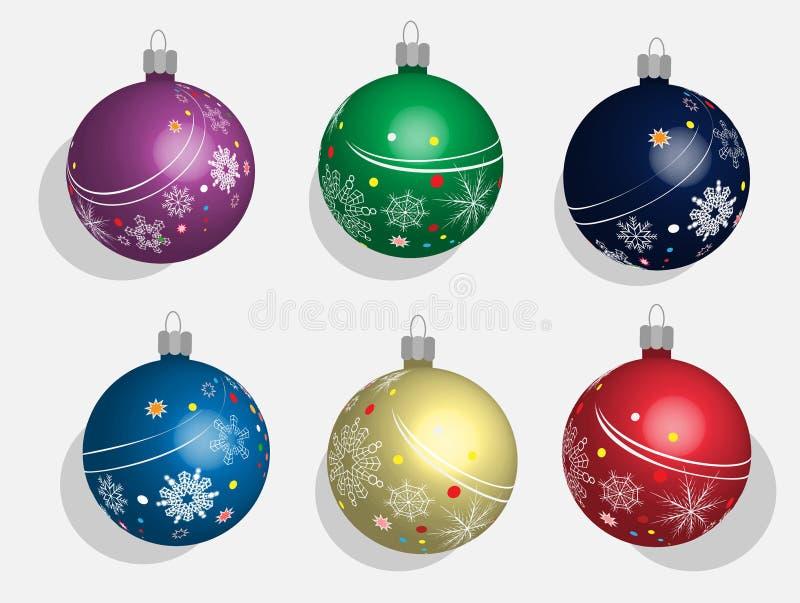 Καθορισμένες σφαίρες Χριστουγέννων ελεύθερη απεικόνιση δικαιώματος