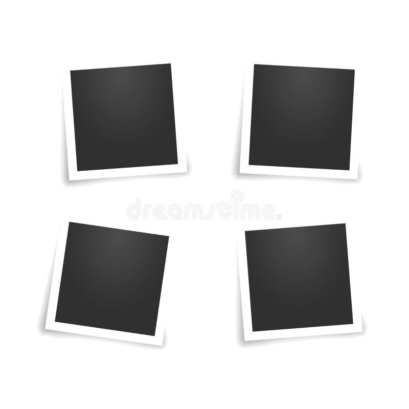 καθορισμένη εκλεκτής ποιότητας κάρτα φωτογραφιών o απεικόνιση αποθεμάτων