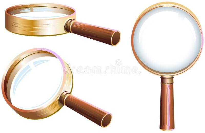Καθορισμένη ενίσχυση - γυαλί διανυσματική απεικόνιση