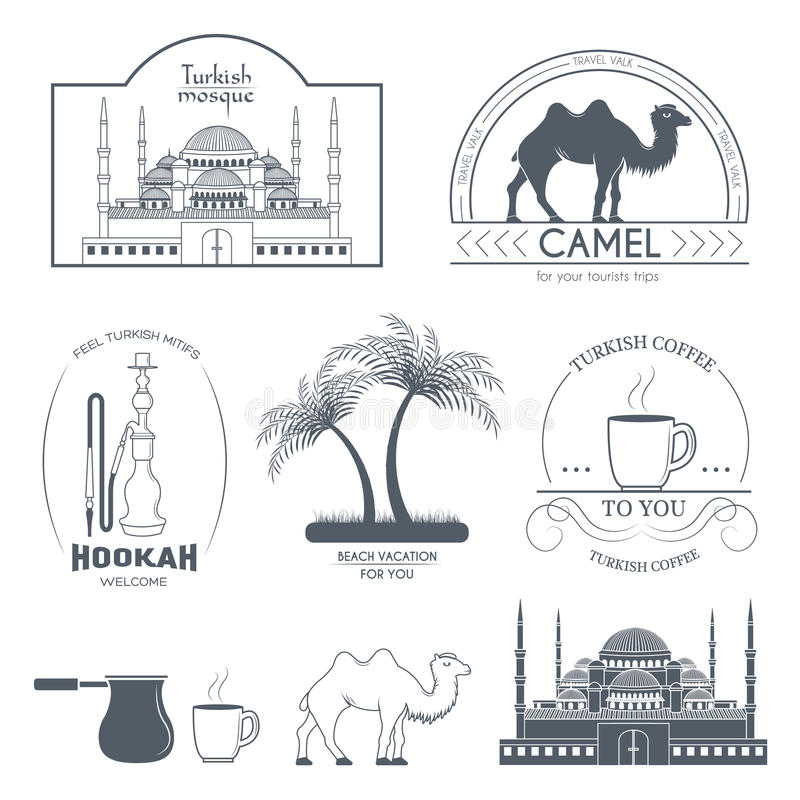 Καθορισμένη ετικέτα χωρών της Τουρκίας Πρότυπο του στοιχείου εμβλημάτων για το προϊόν ή το σχέδιό σας, του Ιστού και των κινητών  διανυσματική απεικόνιση