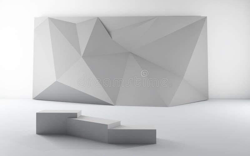 Καθορισμένη κενή αφίσσα Origami γκαλεριών τέχνης έκθεσης ελεύθερη απεικόνιση δικαιώματος