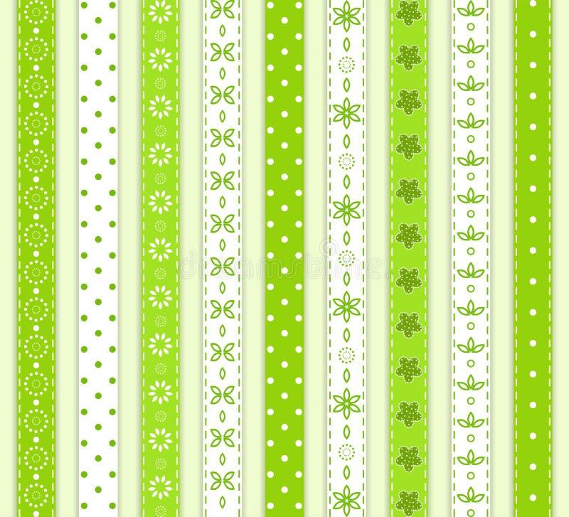 Καθορισμένη πράσινη κορδέλλα. απεικόνιση αποθεμάτων