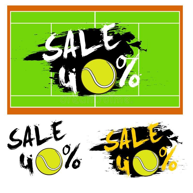 Καθορισμένη πώληση εμβλημάτων 40 τοις εκατό με τη σφαίρα αντισφαίρισης ελεύθερη απεικόνιση δικαιώματος
