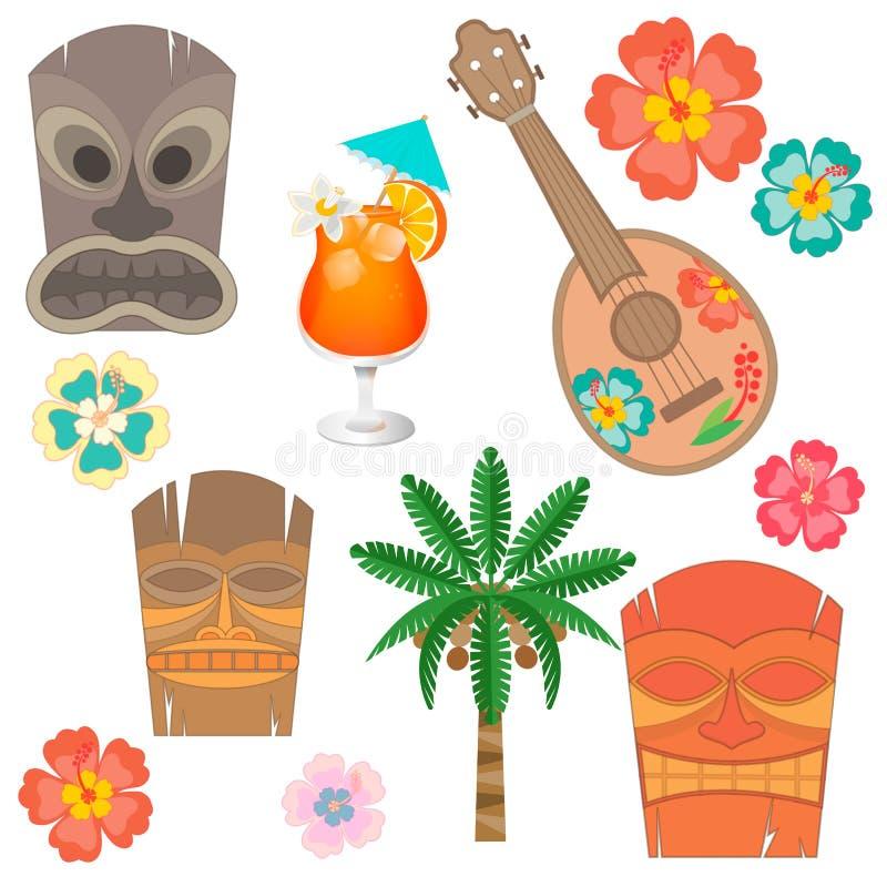 Καθορισμένη Χαβάη simbols και εξαρτήματα απεικόνιση αποθεμάτων