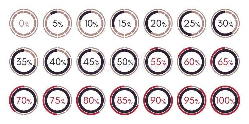 Καθορισμένη ψηφιακή συλλογή των διαγραμμάτων infographics που απομονώνεται ελεύθερη απεικόνιση δικαιώματος