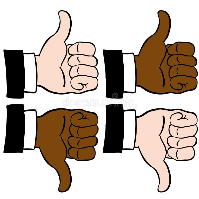 καθορισμένοι αντίχειρε&sigma ελεύθερη απεικόνιση δικαιώματος